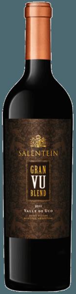 Der Gran VU Blend von Bodegas Salentein leuchtet tiefrot im Glas mit violetten Reflexen. Es entfalten sich die Aromen dunkler Früchte, Lakritze und Minze. Dieser Rotwein ist am Gaumen dicht und komplex mit weichen und eleganten Tanninen. Dieser würzige und körperreiche Wein aus Argentinien endet in einem sehr langen Finale. Vinifikation für den Salentein Gran VU Blend Diese Cuvée aus dem Valle de Uco (VU) wird aus den Rebsorten Malbec (73%) und Cabernet Sauvignon (27%) vinifiziert. Nach der Lese werden die Trauben in Fässern aus französischer Eiche vergoren und für 24 Monate in diesen gereift. Speiseempfehlung für den Salentein Gran VU Blend Genießen Sie diesen trockenen Rotwein zu kurzgebratenem Rinderfilet oder zu Osso Bucco a la Milanese. Auszeichnungen des Salentein Gran VU Blend Robert Parker: 93 Punkte für 2011 Tim Atkin: 94 Punkte für 2011 Wine Spectator: 91 Punkte für 2011