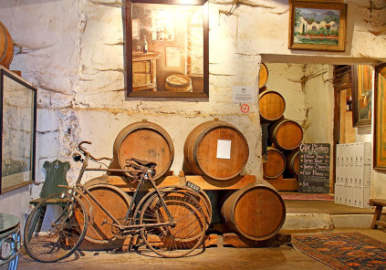 The interior of the Muratie Winery is full of memorabilia