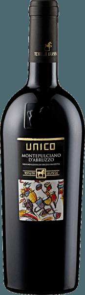 Dieser sortenreine Montepulciano d'Abruzzo offenbart sich in einem leuchtenden Rubinrot.Im komplexen und faszinierenden Bouquet des UNICO Montepulciano d'Abruzzo DOC von Tenuta Ulisse dominieren saftige-fruchtige Noten von Schwarzkirsche und roten Beeren. Danach gesellen sich animierend würzige Noten wie Paprika und frische Minze, kombiniert mit Schokolade und dezenten Karamellnoten, dazu.Wir empfehlen ihn zu rotem Fleisch, kräftigen Risottogerichten, Pizza und reifem Käse.