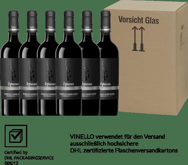 6er Vorteils-Weinpaket - Il Passo Nerello Mascalese 2018 - Vigneti Zabu von Vigneti Zabu