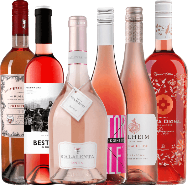 Globetrotter Rosé wine pack - around the world with 6 wines