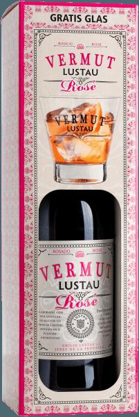 Vermut Rosé in box with glass - Emilio Lustau