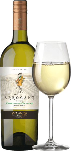 The Ribet Blanc from Arrogant Frog is a silky, French white wine cuvée made from the Chardonnay (70%) and Viognier (30%) grape varieties. In the glass this wine appears in a rich golden yellow with greenish nuances. This French white wine has an elegant nose that combines fruity aromas of tropical fruits, such as pineapple and peach, and fresh citrus fruits with hints of vanilla. The fruity aromas of the nose are also reflected on the palate. The silky, fresh body is supported by a well-balanced acidity. This wine closes with a long finish. Vinification of Ribet Blanc Chardonnay Viognier Arrogant Frog After the grapes have been harvested, the grapes are first completely destemmed in the wine cellar. The two grape varieties for this wine are vinified separately. The must is fermented for about 3 weeks in stainless steel tanks at a controlled temperature (max. 18 degrees Celsius). 30% of the Chardonnay is aged in oak barrels - the remaining 70% and the Viognier remain in stainless steel tanks. Food recommendation for the Arrogant Frog Chardonnay Viognier Enjoy it with crunchy vegetables, sushi, Mediterranean seafood and fish dishes, white poultry, fruit desserts and Asian cuisine. Awards for the Ribet Blanc Arrogant Frog Mundus Vini: Silver for 2017 Mundus Vini: Gold for 2016