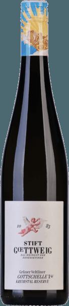 Der Gottschelle Grüner Veltliner erscheint in einem mitlleren Gelbgrün mit silbernen Reflexen im Glas und präsentiert dabei Aromen von gelben Früchten, wie Apfel und Mango. Dabei wird er unterlegt von dezenten Tabaknoten. Dieser österreichische Weißwein ist saftig, verfügt über eine sehr gute Komplexität und einen mineralischen, leicht zitronigen Nachhall. Speiseempfehlung für den Gottschelle Grüner Veltliner Kremstal DAC Reserve Genießen Sie diesen trockenen Weißwein zu Vorspeisen, Backwaren, der österreichischen oder asiatischen Küche.
