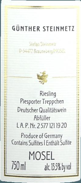 Piesporter Treppchen Riesling von den Terrassen 2019 - Günther Steinmetz von Weingut Günther Steinmetz