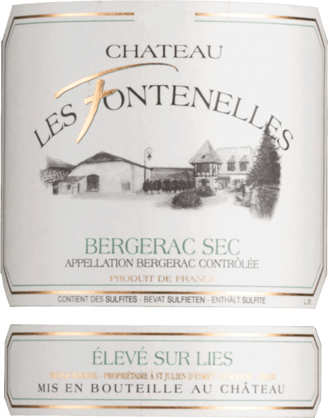 Bergerac Blanc Sec 2019 - Château les Fontenelles von Château les Fontenelles