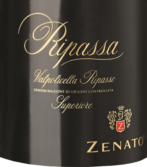 The Ripassa Valpolicella Superiore from Zenato is an excellent, harmonious red wine cuvée full of character from the Italian wine-growing region DOC Valpolicella Ripasso. This wine appears in the glass in a dark and deep ruby red and unfolds its elegant and intense bouquet, which consists of the aromas of black cherries and plums. Spicy nuances and hints of rum pot, the result of the Apassimento process, complete the nose.On the palate this red wine from Veneto is juicy and smooth and its compact fruit is complemented by subtle notes of coffee, liquorice and almond and carried into a long, noble finish. Vinification of Zenato Ripassa Superiore Valpolicella The grape varieties for this cuvée are Corvina, Rondinella and Oseleta. The grapes come from vineyards with dry, loamy and calcareous soils. The climate is Mediterranean, with hot dry summers and mild humid winters. After the alcoholic fermentation, a second fermentation takes place for about 20 days on the still warm Amarone marc. With this Ripasso procedure the still young wine withdraws further aromas from the marc. The ageing takes place for 24 months in French barrique barrels, followed by 6 months storage in the bottle. Food recommendation for the Ripassa Valpolicella Zenato Superiore Enjoy this dry red wine from Italy with hearty pasta dishes, braised meat or cheese. Awards for the Ripassa Valpolicella Superiore from Zenato James Suckling: 94 points for 2015 Decanter Asia Wine Awards: 90 points for 2015 Mundus Vini: Gold for 2014 Falstaff: 92 points for 2014 Wine Spectator: 90 points for 2013