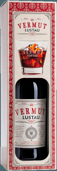 Vermut Rojo in box with glass - Emilio Lustau