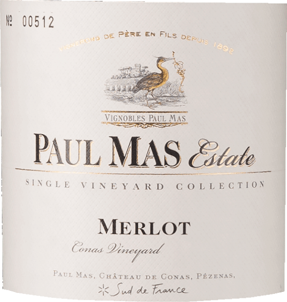 Paul Mas Estate Merlot Conas Vineyard 2019 - Domaine Paul Mas von Domaine Paul Mas