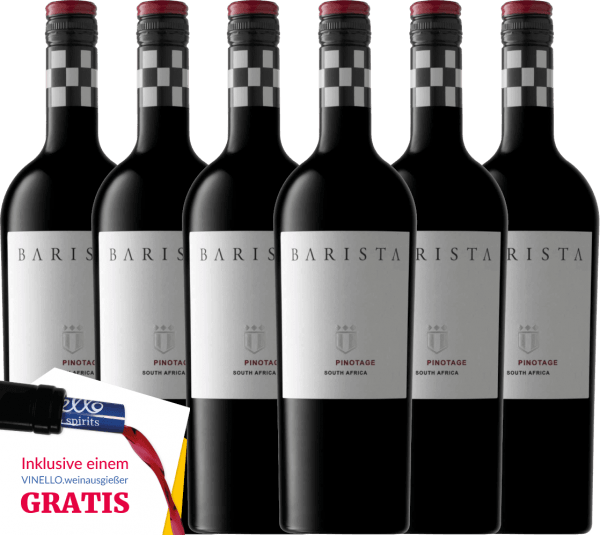 6er Vorteils-Weinpaket - Pinotage Western Cape 2019 - Barista von Barista