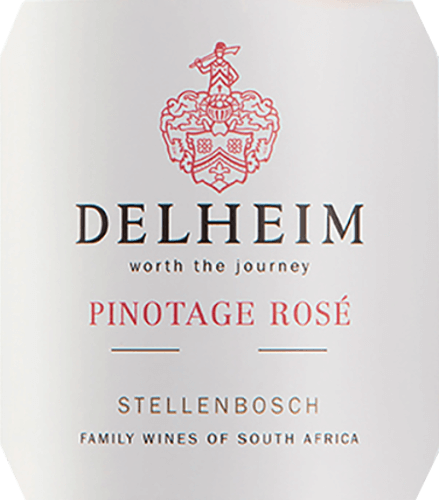 """The Pinotage Rosé from Delheim Wines shows a lively bright pink. The uniquely dense, fragrant bouquet of this rosé wine from South Africa is reminiscent of a fruit basket filled with sweet red raspberries, cranberries, wild strawberries and juicy light sweet cherries. On the palate this Pinotage Rosé presents itself fresh, fruity, juicy and round. The pocky-fresh fruit acid is countered by a subtle, wonderfully melt-in-the-mouth sweetness, which perfectly balances this rosé from the Cape. Vinification of the Pinotage Rosé from Delheim This classic has been pressed since 1976. At that time Michael """"Spatz"""" Sperling and his wife Vera created a real classic when they created the Pinotage Rosé in the first vintage. Regular awards and the multiple distinction as best rosé of the year (specialist magazine Weinwirtschaft) have made their Pinotage Rosé a legend. The Pinotage grapes for this wine grow on expressive clay and sandy soils in the community of Muldersvlei Bowl in the legendary Stellenbosch wine region. The Delheim Rosé is mainly made from the red wine grape variety Pinotage, which is particularly typical for South Africa, to which a small proportion of fragrant Muscat grapes have been added. The grapes are harvested by hand and selected once again before mashing. The berries are then mashed, the must is left on the skins for only a short time and the delicate pinkish red must is then fermented. Recommended food for the Delheim Pinotage Rosé Enjoy this rosé solo as an aperitif or with ceviche, yellow pepper foam soup, chorizo carbonara and turkey gyros. This charming rosé is made from 90% Pinotage and 10% Muscat."""