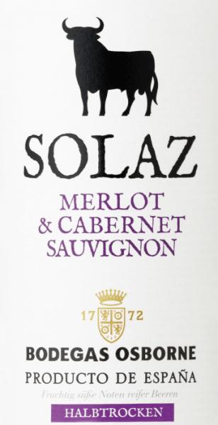 Merlot Cabernet Sauvignon 2018 - Osborne Solaz von Osborne