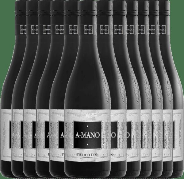 12er Vorteils-Weinpaket - Primitivo 2019 - A Mano