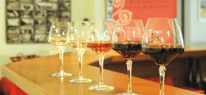 Auswahl einiger Weine von Les Vignerons des Coteaux Romanais