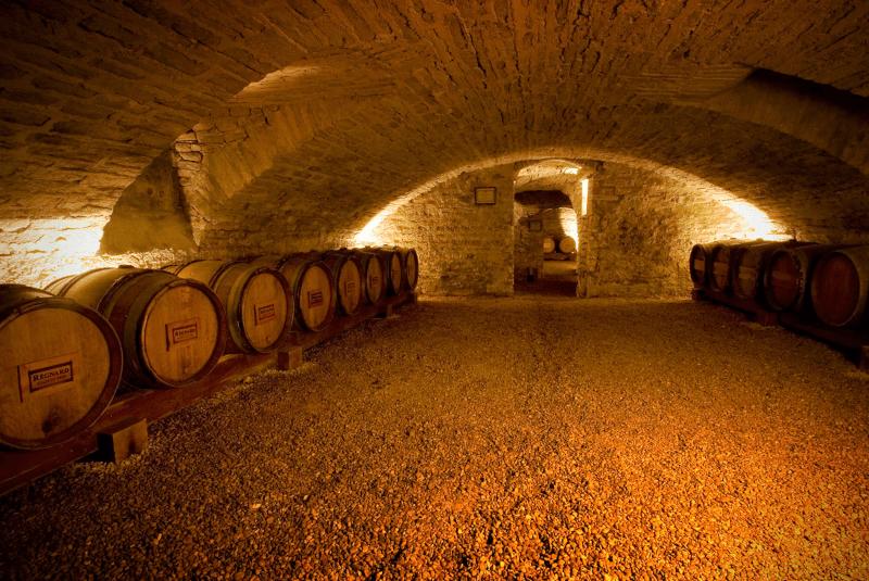 Der historische Keller in Beaune