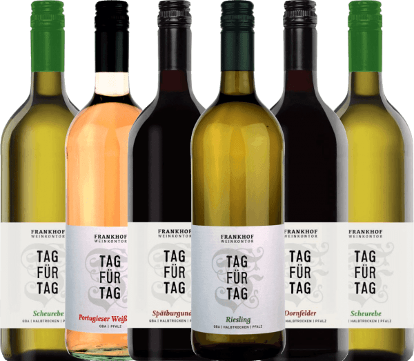 6-pack Get to know - Tag für Tag semi-dry wines from Frankhof Weinkontor