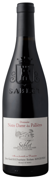 Sablet AOP Côtes du Rhône Villages 2019 - Domaine Notre Dame des Pallieres