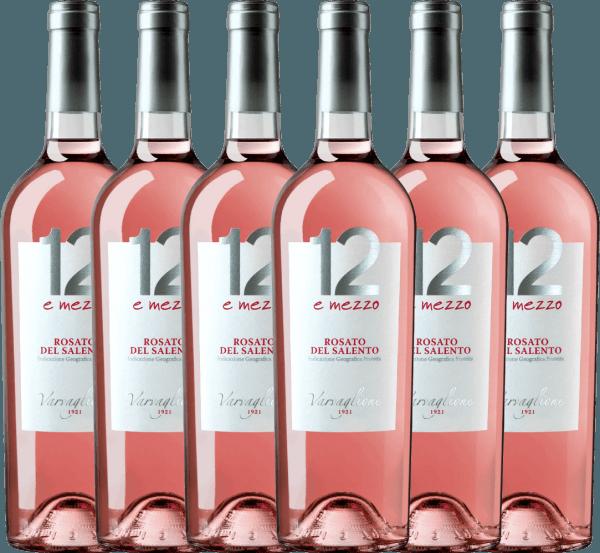 6er Vorteils-Weinpaket - 12 e Mezzo Rosato 2020 - Varvaglione