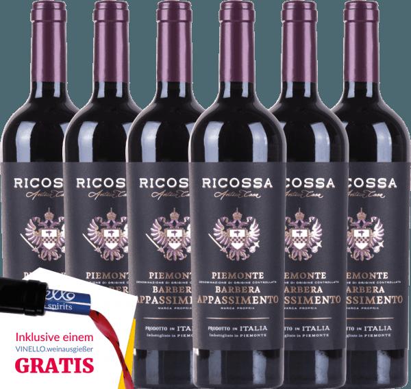 6er Vorteils-Weinpaket - Barbera Appassimento DOC 2019 - Ricossa von Ricossa