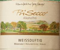 Vorschau: PriSecco weißduftig - Manufaktur Jörg Geiger