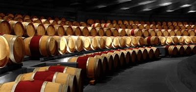 Montes room of French barrels