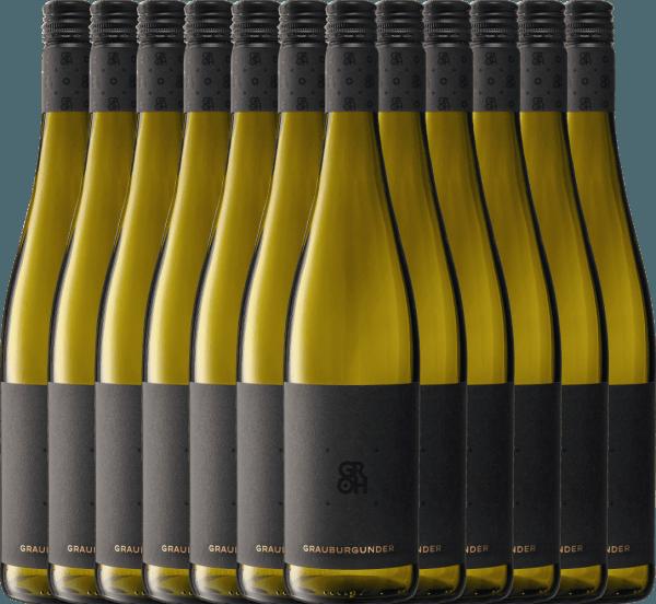 12er Vorteils-Weinpaket - Grauburgunder 2019 - Groh