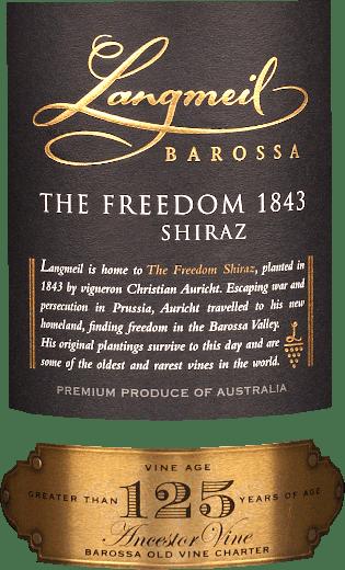 The Freedom 1843 Shiraz Barossa Valley 2016 - Langmeil von Langmeil