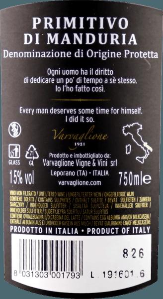 Cosimo Varvaglione Collezione Privata Primitivo di Manduria DOP 2015 - Varvaglione von Varvaglione