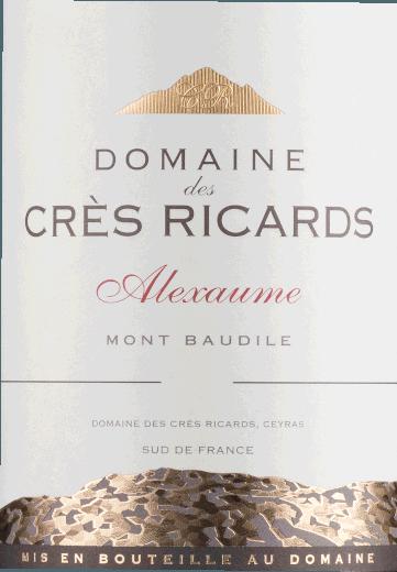Alexaume Mont Baudile Domaine des Crès Ricards 2018 - Domaine Paul Mas von Domaine Paul Mas