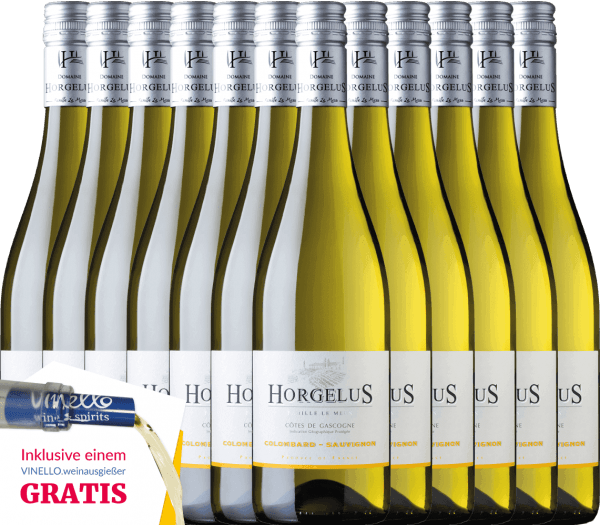 Our top seller Horgelus Blanc is a French white wine made from the Colombard and Sauvignon Blanc grape varieties. A perfect example of a fresh, fruity white wine with its own characteristics and pleasant length. The Horgelus Blanc is an ideal wine for the summer, but also a pleasure to fish or seafood. Buy this white wine from France now in our practical 12-pack. More information about this summer wine can be found in the article of Horgelus Blanc from Domaine Horgelus.