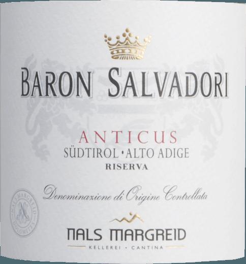 Anticus Baron Salvadori Riserva 2016 - Nals Margreid von Nals Margreid