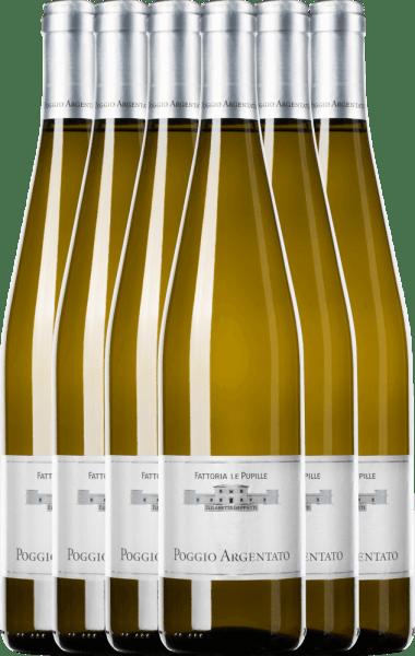 6er Vorteilspaket - Poggio Argentato Toscana Bianco IGT - Le Pupille