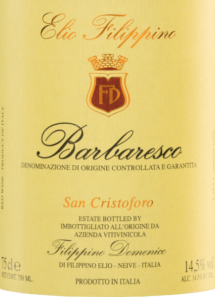 San Cristoforo Barbaresco DOCG 2016 - Elio Filippino von Elio Filippino