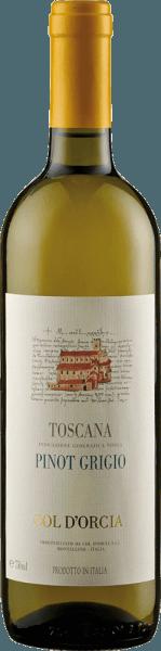 Der Sant'Antimo Pinot Grigio DOC von Col d'Orcia präsentiert sich im Glas in einem intensiven Zitronengelb mit grünlichen Reflexen. Dabei verströmt dieser Weißwein seine sortentypischen Aromen von Zitrusfrüchten, floralen Anklängen und dezente mineralische Noten. Dieser Weißwein aus der Toskana ist elegant und körperreich mit einer lebhaften Säure und feinen Struktur. Sein Nachhall ist sehr delikat und langanhaltend. Vinifikation für den Sant'Antimo Pinot Grigio DOC von Col d'Orcia Nach der Lese wurden die Trauben für diesen Wein kalt mazeriert und sanft gepresst. Die Fermentation fand über einen Zeitraum von etwa 10-12 Tagen statt. Um die Aromen zu erhalten, wurde dieser Pinot Griogio zeitig in Flaschen abgefüllt. Speiseempfehlung für den Sant'Antimo Pinot Grigio DOC von Col d'Orcia Genießen Sie diesen trockenen Weißwein zu Pasta und Risotto, gegrilltem Gemüse und Antipasti oder zu Gerichten mit Pilzen oder hellem Fleisch.