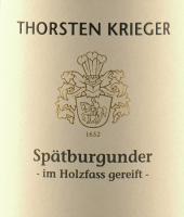 Vorschau: Spätburgunder trocken 2018 - Thorsten Krieger