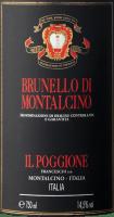 Vorschau: Brunello di Montalcino DOCG von Tenuta il Poggione Etikett