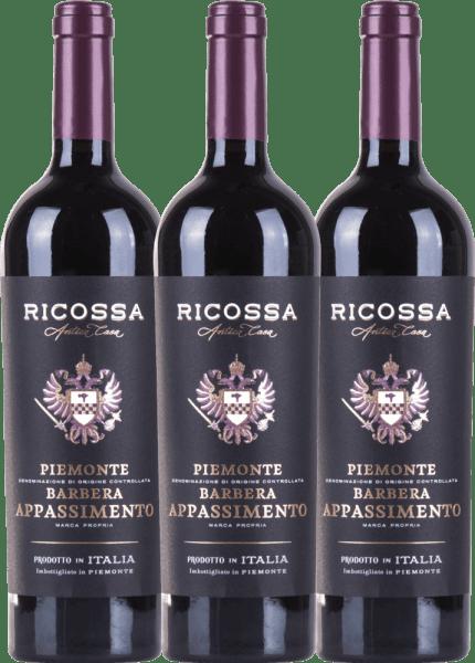 3er Vorteils-Weinpaket - Barbera Appassimento DOC 2019 - Ricossa von Ricossa