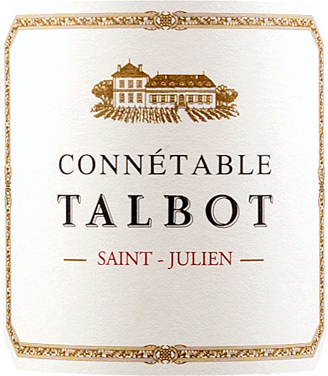 Der im Fass ausgebaute Connetable de Talbot St. Julien aus der Weinbau-Region Bordeaux zeigt sich im Glas in leuchtendem Purpurrot. Das Bukett dieses Rotweins aus dem Bordeaux überzeugt mit Noten von schwarze Johannisbeere, Maulbeere, Brombeere und Heidelbeere. Spüren wir der Aromatik weiter nach, kommen getoastetes Barrique, mediterrane Kräuter und grüne Paprika hinzu. Dieser trockene Rotwein von Château Talbot ist genau das Richtige für WeinliebhaberInnen, die es absolut trocken mögen. Ausgeglichenen und vielschichtig präsentiert sich dieser dichte und seidige Rotwein am Gaumen. Das Finale dieses gut reifungsfähigen Rotweins aus der Weinbauregion Bordeaux, genauer gesagt aus Saint Julien, überzeugt schließlich mit beachtlichem Nachhall. Vinifikation des Château Talbot Connetable de Talbot St. Julien Grundlage für den balancierten Connetable de Talbot St. Julien aus Bordeaux sind Trauben aus den Rebsorten Cabernet Franc, Cabernet Sauvignon und Merlot. Nach der Lese gelangen die Weintrauben zügig ins Presshaus. Hier werden Sie sortiert und behutsam aufgebrochen. Anschließend erfolgt die Gärung im kleinen Holz bei kontrollierten Temperaturen. Der Gärung schließt sich eine Reifung für einige Monate in Fässern aus Eichenholz an. Speiseempfehlung zum Château Talbot Connetable de Talbot St. Julien Trinken Sie diesen Rotwein aus Frankreich idealerweise temperiert bei 15 - 18°C als Begleiter zu Kabeljau mit Gurken-Senf-Gemüse, Rumtopf oder Boeuf Bourguignon. Auszeichnungen für den Connetable de Talbot St. Julien von Château Talbot Neben einem Preis-Genuss-Verhältnis kann dieser Château Talbot Wein auch mit zahlreichen Auszeichnungen und Topbewertungen jenseits der 90 Punkte aufwarten. Im Detail sind dies Vinous Antonio Galloni - 89 Punkte Falstaff - 92 Punkte James Suckling - 94 Punkte Wine Spectator - 93 Punkte