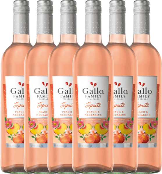 6er Vorteils-Weinpaket - Spritz Pfirsich Nektarine - Gallo Family