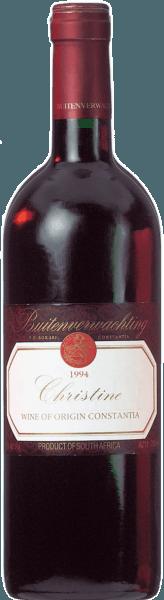 Herrliche Brombeer- und Vanillearomen und die perfekte Harmonie zwischen Kraft und Finesse kann man hier erleben. Der Christine von Buitenverwachting gehört, aufgrund der feinwürzige Tanninstruktur und der samtigen Fruchtdichte, zu einem der begehrtesten Rotweine Südafrikas. Der Rotwein im Bordeaux-Stil passt perfekt zu einer guten Zigarre, er ist ein ausgesprochener Meditationswein, wir empfehlen ihn daher als Solisten! Aber er eignet sich auch hervorragend zu dunklem Fleisch, Wildgerichten aller Art und zu Käse.