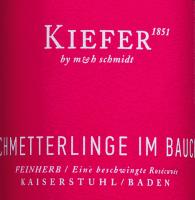 Vorschau: Schmetterlinge im Bauch Wein Kiefer Etikett
