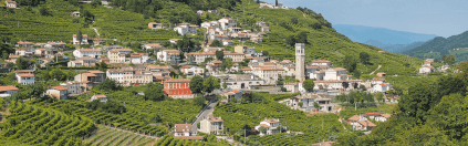 The hills of the Prosecco region
