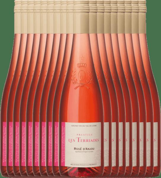 18er Vorteilspaket - Rosé d'Anjou Les Terriades AOC 2020 - Les Caves de la Loire