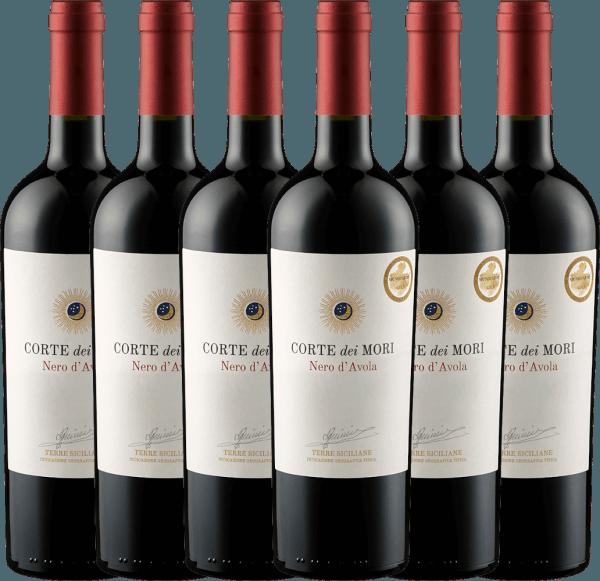 6er Vorteils-Weinpaket - Nero d'Avola Terre Siciliane 2019 - Corte dei Mori