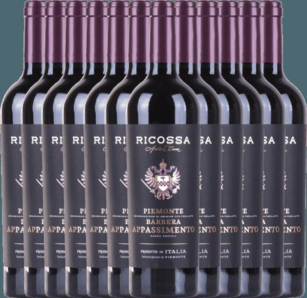 12er Vorteils-Weinpaket - Barbera Appassimento DOC 2019 - Ricossa von Ricossa