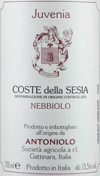Nebbiolo Juvenia Coste della Sesia DOC 2016 - Antoniolo von Antoniolo
