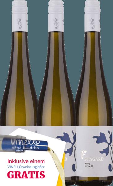 3er Vorteils-Weinpaket - Urban.R Riesling 2019 - Lesehof Stagard von Lesehof Stagård