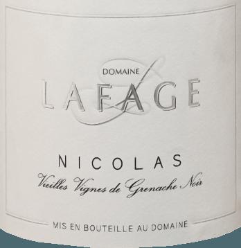 Nicolas Grenache Noir Vieilles Vignes 2019 - Domaine Lafage von Domaine Lafage