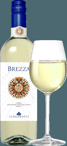 Der Brezza Umbria Bianco IGT - Fattoria del Pometo von Lungarotti strahlt in hellem Strohgelb mit zarten, grünlichen Reflexen im Glas. In der Nase präsentiert er sich jugendlich, mit feinen Aromen von saftigen Früchten, Pfirsich, grüner Apfel, und elegante florale Noten im Hintergrund. Am Gaumen begeistert dieser Weißwein aus Umbrien mit lebhafter, delikater Säure, von mittlerer Struktur, vollmundig und fruchtig, im Finale weich und erfrischend, im lang anhaltenden Abgang eine fast liebliche Note. Vinifikation des Brezza Umbria Bianco IGT Fattoria del Pometo von Lungarotti Dieser knackige junge Weißwein wird aus Grechetto, Chardonnay, Pinot Grigio und andere weiße Rebsorten vinifiziert, die in der Fattoria del Pometo, einem der Weingüter der Familie Lungarotti, auf sandigen, mittelschweren, tiefgründigen Böden wachsen. Die Weinlese erfolgt manuell, der Ausbau in Edelstahltanks im Kaltmazerationsverfahren. Dieser frische und leicht trinkbare Weißwein ist einer der ersten, die im Herbst, kurz nach der Weinlese und viele Monate vor anderen Weißen zum Genuß einlädt. Speiseempfehlungen für den Brezza Umbria Bianco von Lungarotti Die Windrose auf dem Etikett erinnert an die Seefahrt und ist gleichzeitig ein Hinweis darauf, wo dieser Wein am besten schmeckt: am Meer, am Strand, zur Party. Genießen Sie diesen Wein zu Carpaccio vom Wolsfbarsch, Makrelen, Reis mit Gemüse, Pasta mit firschen Tomaten und Basilikum, Nudelsalat, Scholle mit Petersilie und Zitrone oder Gerichte mit hellem Fleisch.