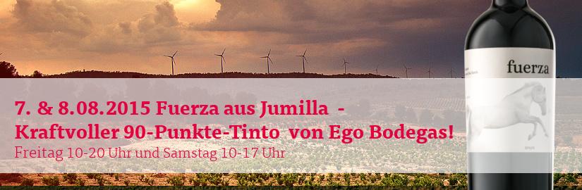 15.08. & 16.08.2015 Fuerza von Ego Bodegas beim VINELLO.tasting